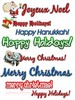 140 Holiday Clipart Collection with MRR