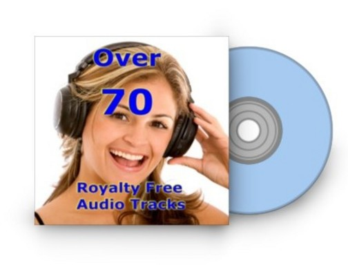 Product picture Over 70 Royalty Free Audio Tracks with MRR