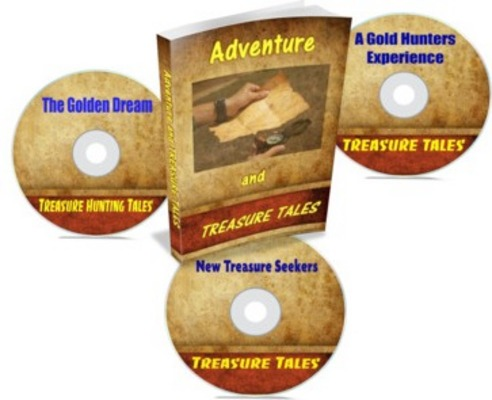 Product picture Treasure Hunting Tales Ebook and Audio Set with MRR and PLR